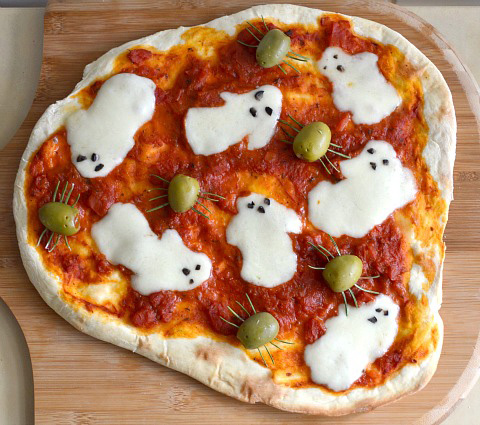 Pizza creativa para Halloween.